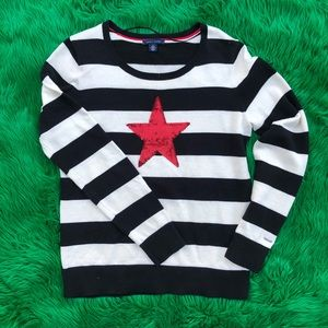 Tommy Hilfiger striped sweater with sequin star